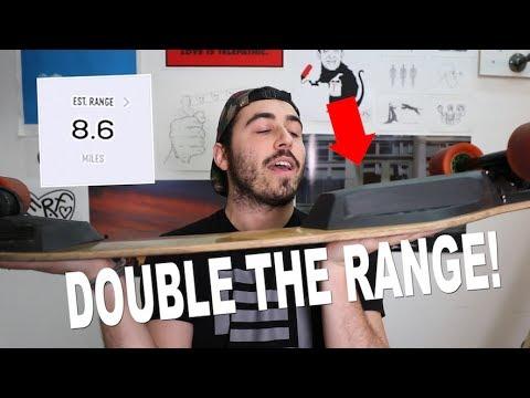 BOOSTED BOARD EXTENDED RANGE BATTERY TEST: UPDATE! *2X RANGE*