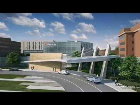 The New Community Hospital East - Exterior Design Animation