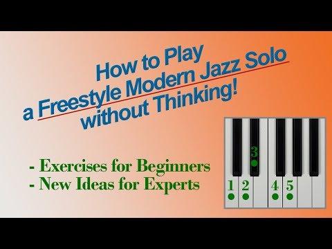 Improvise a Freestyle JAZZ SOLO - without Thinking!