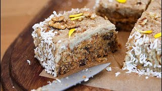 Raw No-bake Carrot Cake Recipe With Trinity