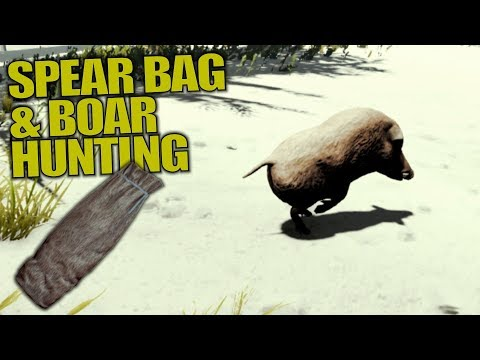 SPEAR BAG & BOAR HUNTING | The Forest | Let's Play Gameplay | S14E11