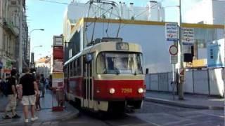 t3sucs 7268 7287 a historick tramvaj t3 6102 na nrodn třdě