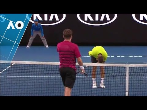 New balls please: Stan smashes Klizan where the sun don't sh
