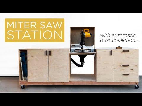 Mobile Miter Saw Station | 45