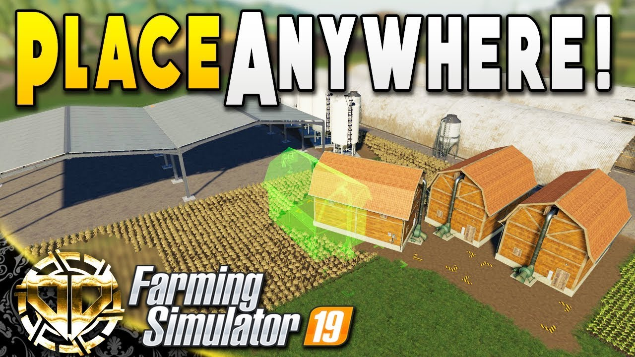 PLACE BUILDINGS ANYWHERE : PLACE ANYWHERE MOD : Farming Simulator 19  Gameplay : Ravenport EP 16
