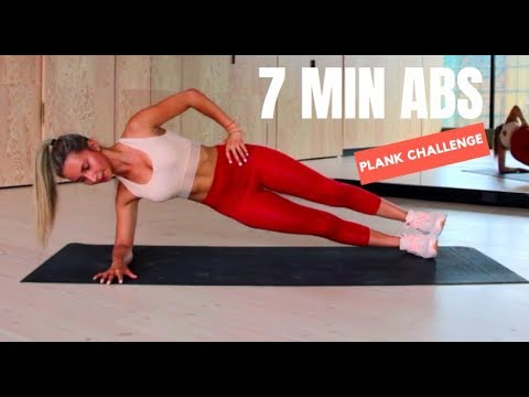 7 minute ab workout  plank challenge  no equipment  youtube