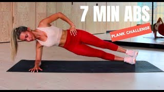 7 MINUTE AB WORKOUT | PLANK CHALLENGE | No Equipment