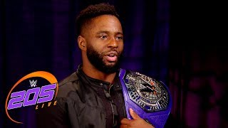 cedric alexander understands the threat posed by buddy murphy wwe 205 live may 22 2018