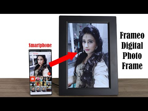 Instantly Share Photos from Your Smartphone to Frameo WiFi Photo Frame (Best Digital Photo Frame)