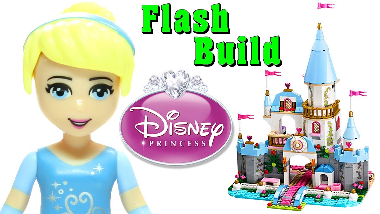 animated lego cinderella s romantic castle 41055 disney princess