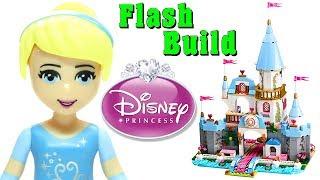 Animated Lego Cinderella's Romantic Castle 41055 Disney Princess Flash Speed Build