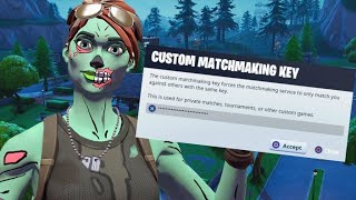 Fortnite Custom matchmaking scrims! NAE Code bobby Road To 3k!