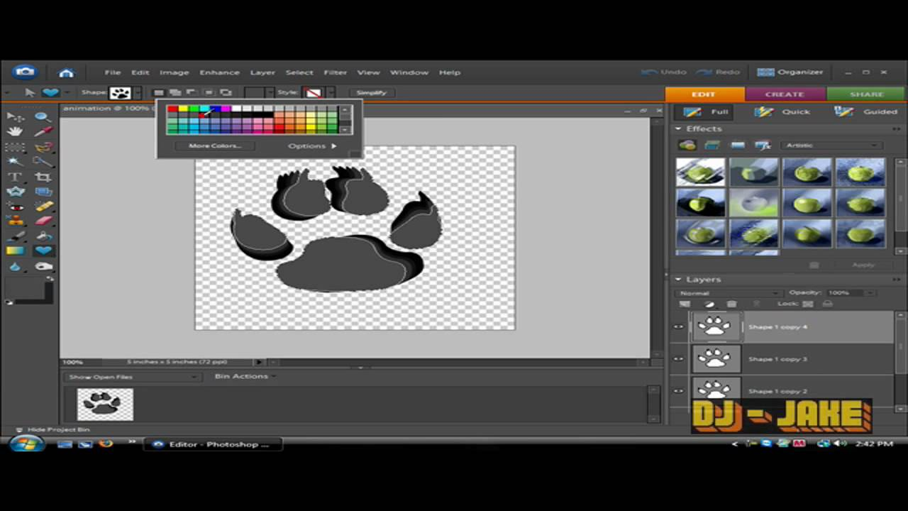 How to make an animated gif with adobe photoshop elements 60 how to make an animated gif with adobe photoshop elements 60 shape tool hd youtube negle Image collections
