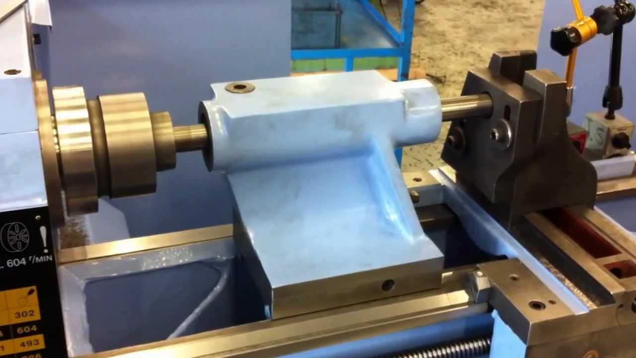 Storebro refurbished lathes  Tailstock reboring for new barrel  Reparation  av pinol