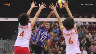 วอลเลย์บอลหญิงไทยคว่ำจีน3-2 เซต U-17ชิงแชมป์เอเชีย