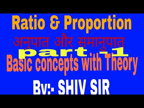 Ratio & Proportion /Basic concepts with Theory /By :-SHIV SIR