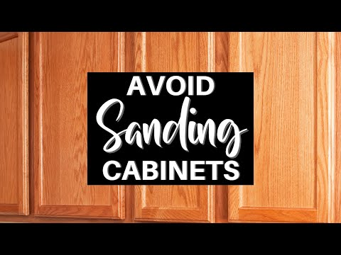Avoid Sanding When Prepping Cabinets to be Painted - YouTube