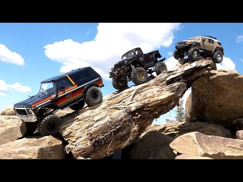ROCK CHALLENGE! Three Guys Wheel Radio Controlled 4x4 Trucks - FORD, DODGE, TOYOTA  | RC ADVENTURES