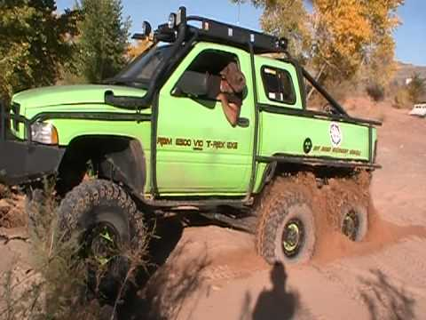 T-Rex 6x6 - last run before 6 wheel steering - YouTube