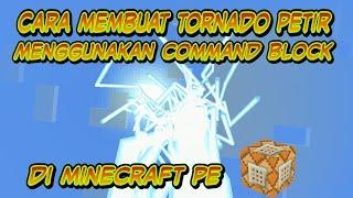 Cara membuat tornado petir di Minecraft PE