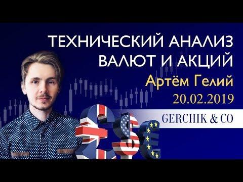 ≡ Технический анализ валют и акций от Артёма Гелий 20.02.2019.