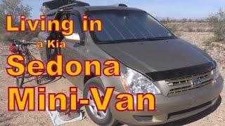 Living or Traveling in a Kia Sedona Minivan