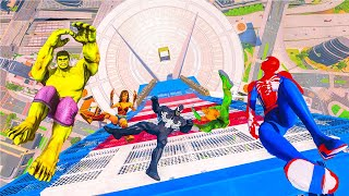 EXTREME OBSTACLES RUN CHALLENGE! (GTA 5 Superheroes Funny Contest)