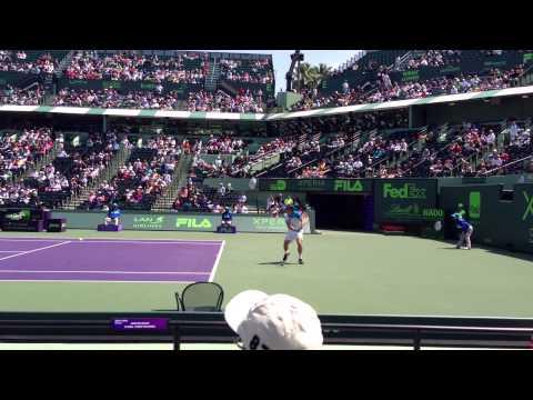 David Ferrer &  Kei Nishikori Sony Miami Tennis Open 2013