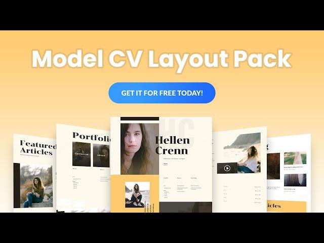 Get a FREE Model CV Layout Pack for Divi