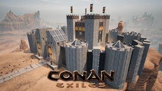 Conan Exiles - Building the White Keep 🏰 (Speed Build)