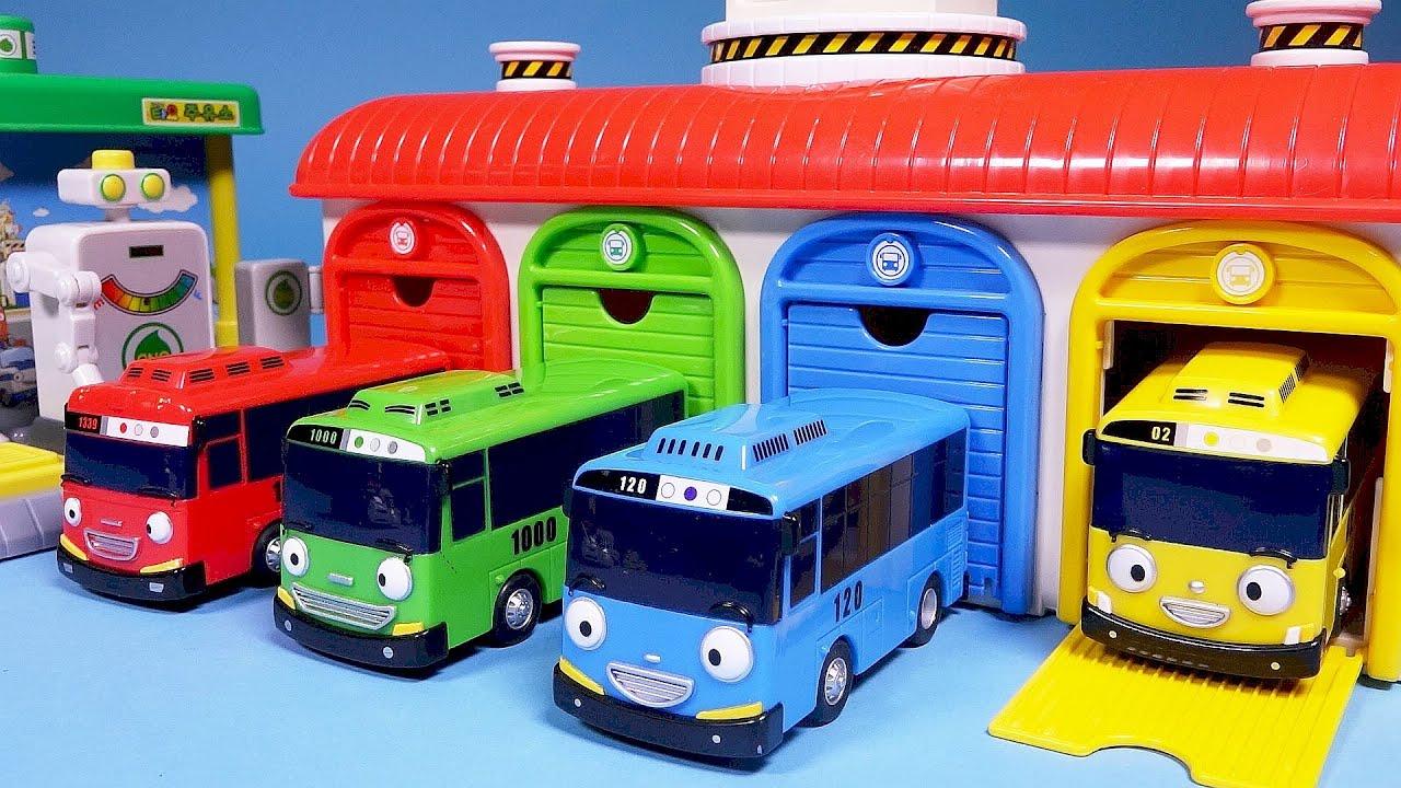 Find A Gas Station >> 꼬마버스 타요 중앙차고지 주유소 장난감놀이 - 토이푸딩 - YouTube