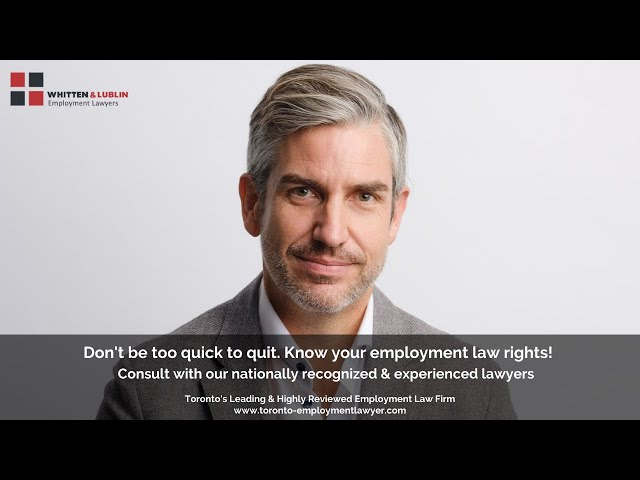 Facing issues at workplace? Consult Whitten & Lublin Employment Lawyers