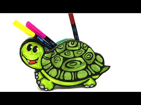 {DIY} Turtle Pencil Holder