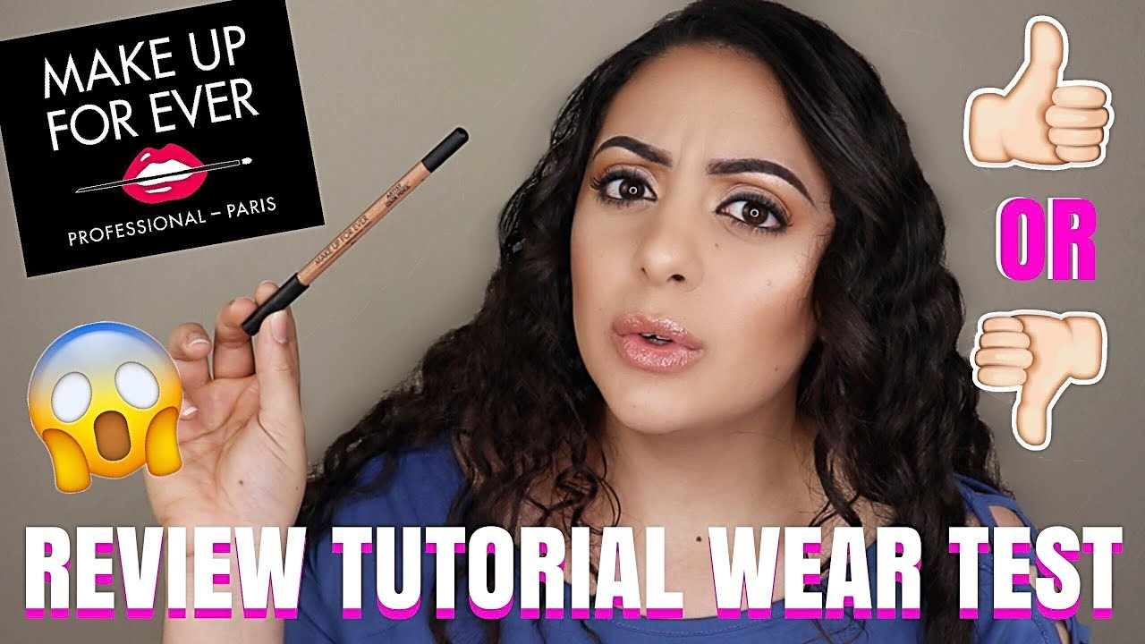 makeup forever artist color pencil eyeliner review tutorial and