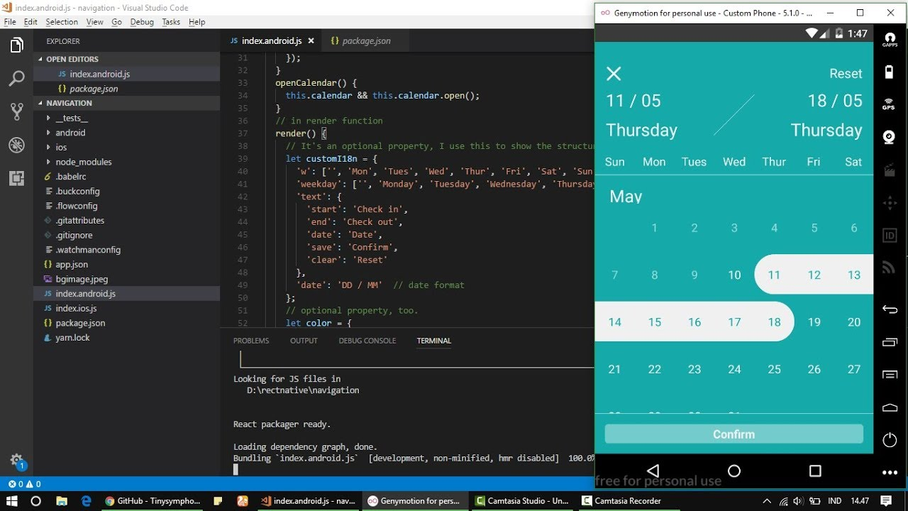 date time picker android react native