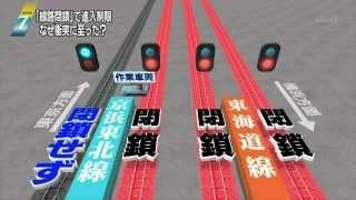 2014 02 23 1900 JR京浜東北線 衝突 脱線 閉鎖前の線路に間違えて乗せた