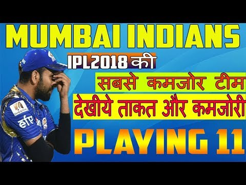 मुम्बई क़ि टीम है काफी कमजोर IPL2018 में