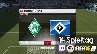 WERDER BREMEN : HAMBURGER SV  - 14 .Spieltag | LIVESTREAM Bundesliga Prognosen