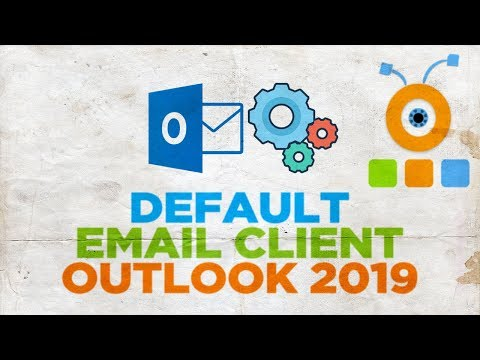 How to set default email id in outlook 2020
