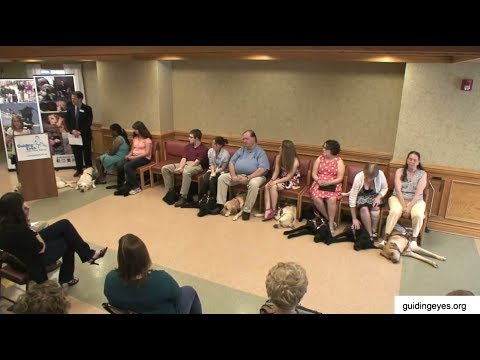 Guiding Eyes For The Blind June 2014 Graduation Youtube
