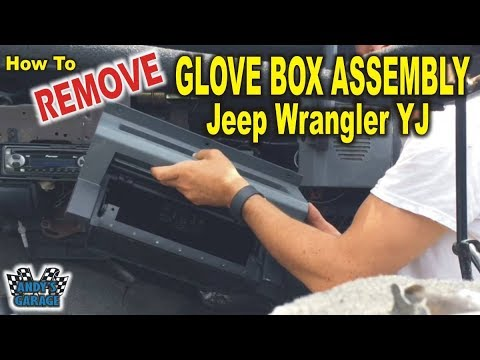 How To Remove Glove Box - Jeep Wrangler YJ (Andy's Garage: Episode - 93) -  YouTubeYouTube