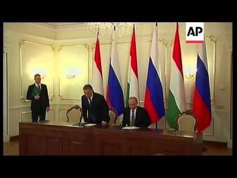 Russian President Putin meets visiting Hungarian PM Orban