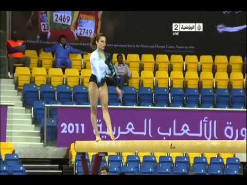 Salma El Saeid (EGY) Beam Finals Arab Games 2011