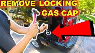 How To Remove Locking Gas Cap in 1 Minute! -Jonny DIY