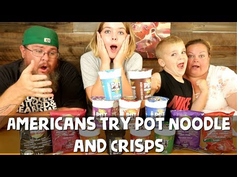 Americans Try Pot Noodle For the First Time || Foreign Food Friday
