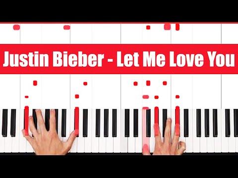 Let Me Love You DJ Snake ft. Justin Bieber Piano Tutorial - VOCAL