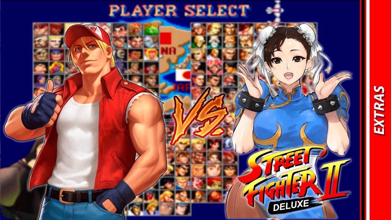street fighter 2 deluxe mugen terry vs chun li extras