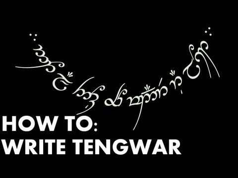 "How To: Write Tengwar or ""Elvish"""