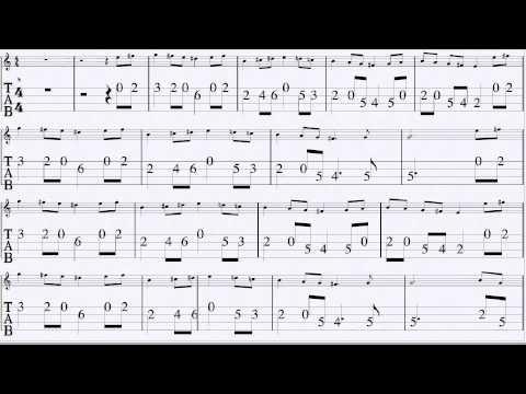 Bach Bourée in Em for Mandolin Full Speed
