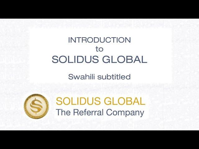 Introduction - Solidus Global - Swahili CC